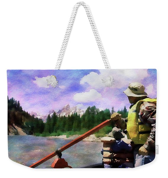 Floating On The Snake River Weekender Tote Bag