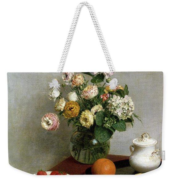 Flowers And Fruit Weekender Tote Bag