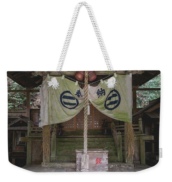 Forrest Shrine, Japan Weekender Tote Bag