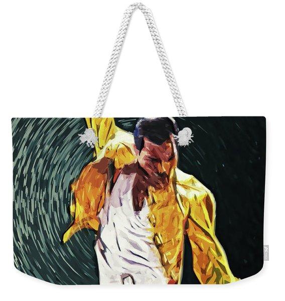 Freddie Mercury Weekender Tote Bag