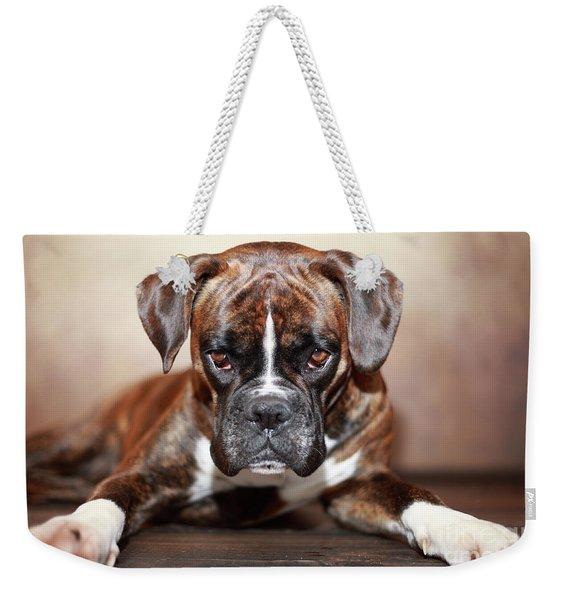 German Boxer Dog Weekender Tote Bag