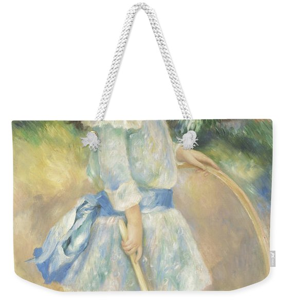 Girl With A Hoop Weekender Tote Bag