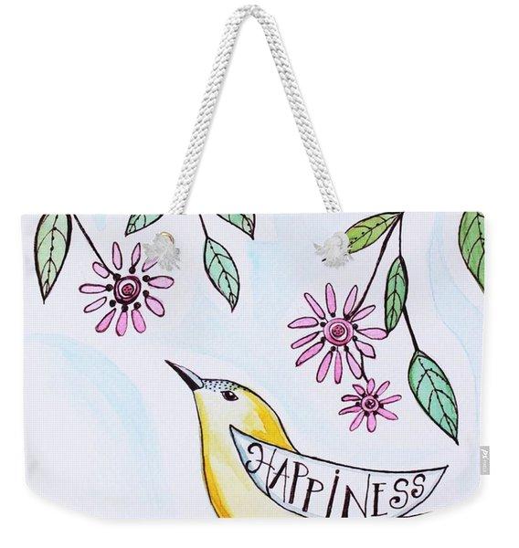 Happiness Weekender Tote Bag