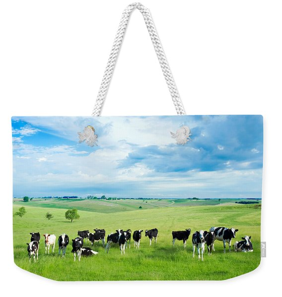 Happy Cows Weekender Tote Bag