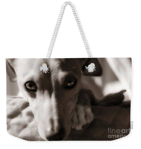 Heart You Italian Greyhound Weekender Tote Bag