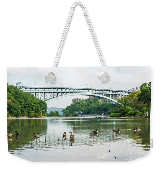 Henry Hudson Bridge Weekender Tote Bag