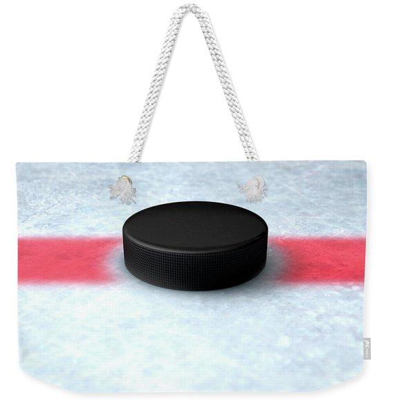 Hockey Puck Centre Weekender Tote Bag