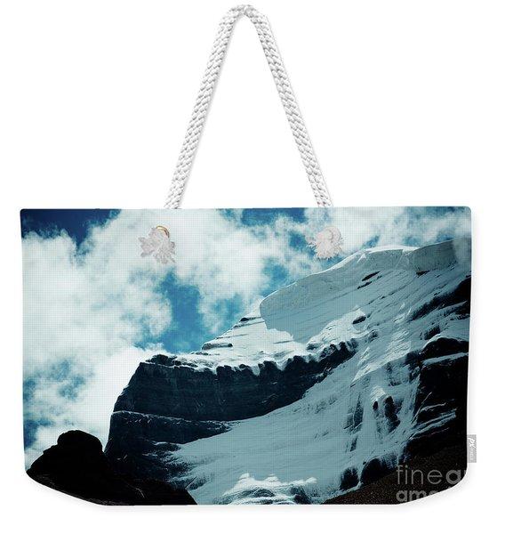 Holy Kailas Fragment Himalayas Tibet Yantra.lv Weekender Tote Bag