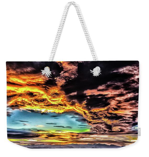 Weekender Tote Bag featuring the photograph I Am That I Am by Michael Rogers