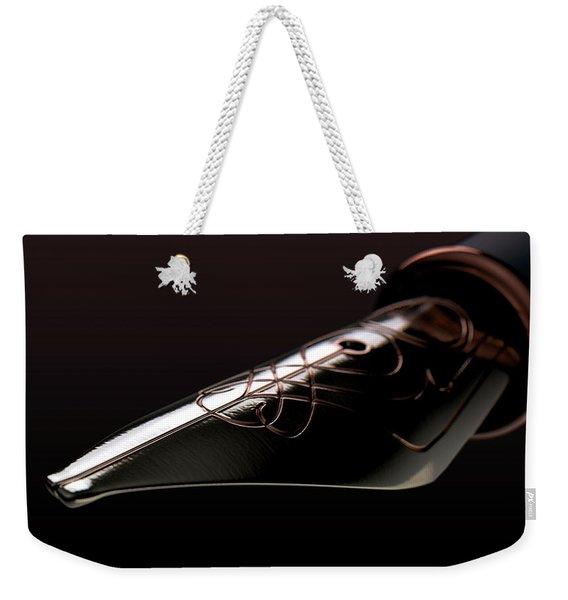 Intricate Fountain Pan Nib Weekender Tote Bag