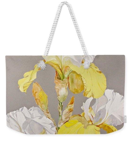 Irises-posthumously Presented Paintings Of Sachi Spohn  Weekender Tote Bag