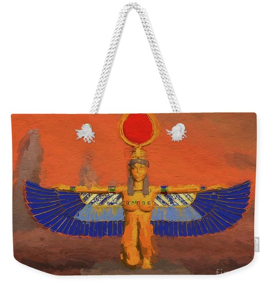 Isis, Mother Goddess Of Egypt By Mary Bassett Weekender Tote Bag
