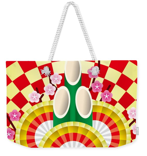 Japanese Newyear Decoration Weekender Tote Bag