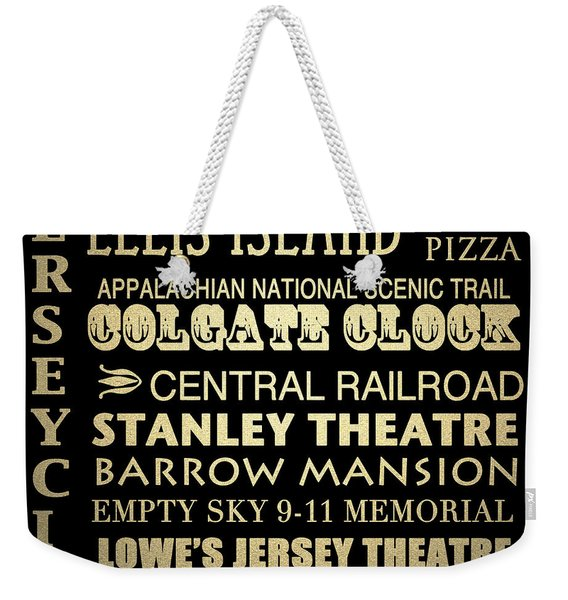 Jersey City Famous Landmarks Weekender Tote Bag