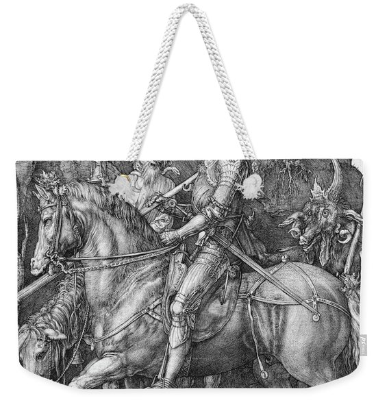 Knight Death And The Devil Weekender Tote Bag