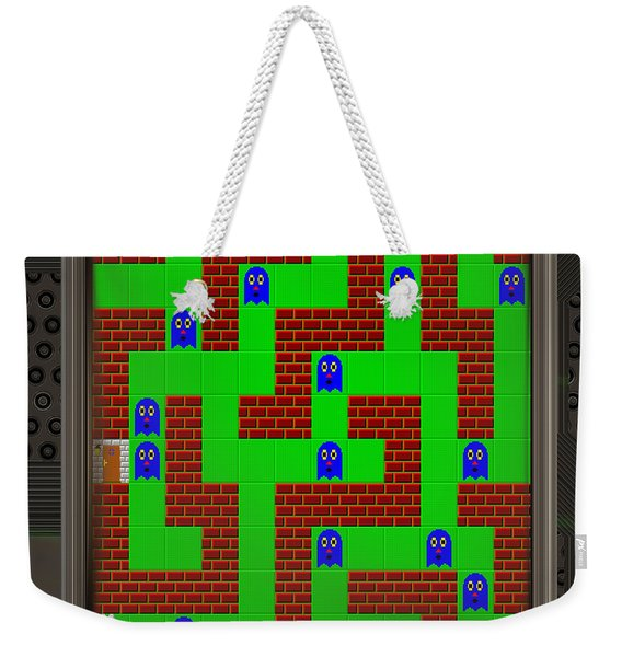 Lcd Screen With Retro Style Game Generated Texture Weekender Tote Bag
