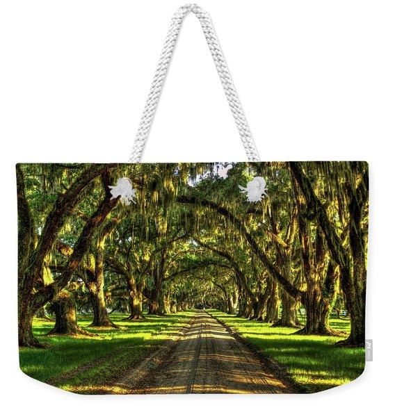 Live Oaks Of Tomotley Plantation South Carolina Low Country Art Weekender Tote Bag