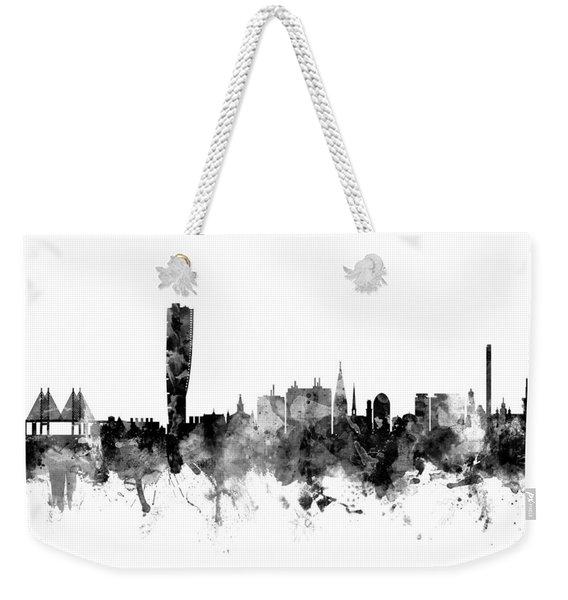 Malmo Sweden Skyline Weekender Tote Bag