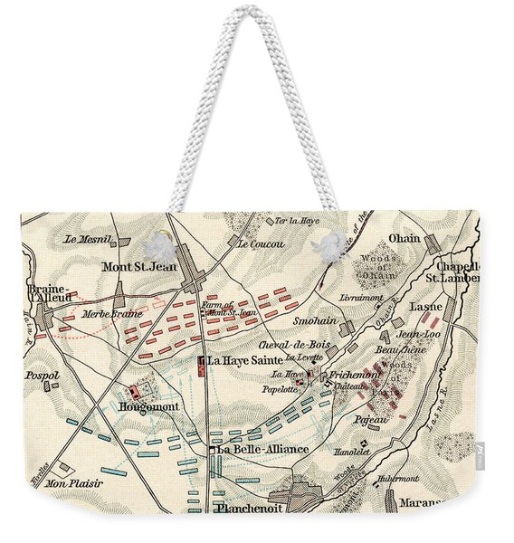 Map Of The Battle Of Waterloo Weekender Tote Bag