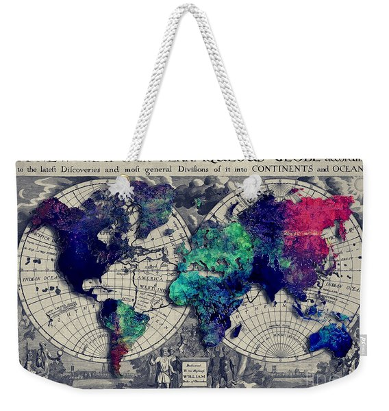 Map Of The World  Weekender Tote Bag