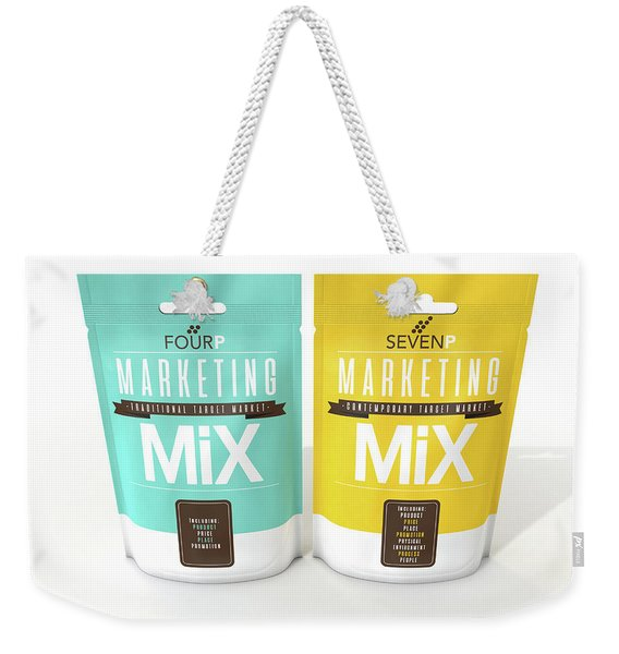 Marketing Mix 4 And 7 P's Weekender Tote Bag
