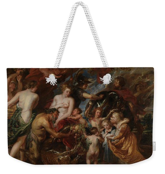 Minerva Protects Pax From Mars Weekender Tote Bag