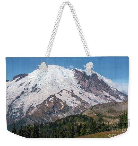 Mt Rainier From Sunrise Weekender Tote Bag