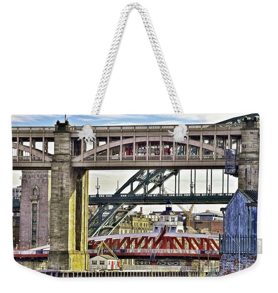 Newcastle Upon Tyne Bridges Weekender Tote Bag