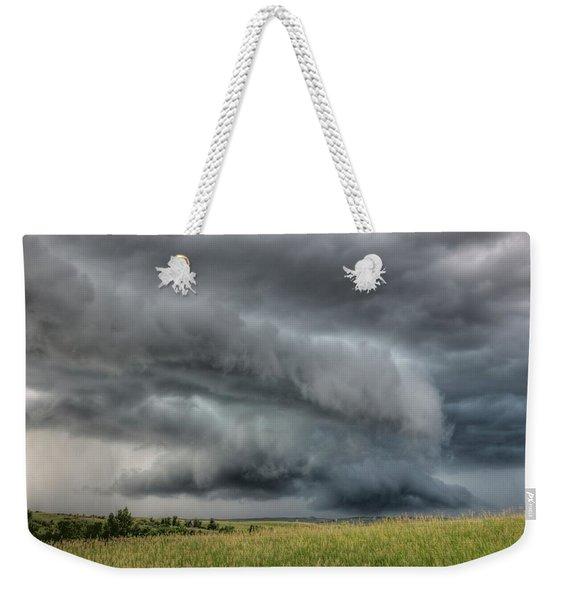North Dakota Thunderstorm Weekender Tote Bag
