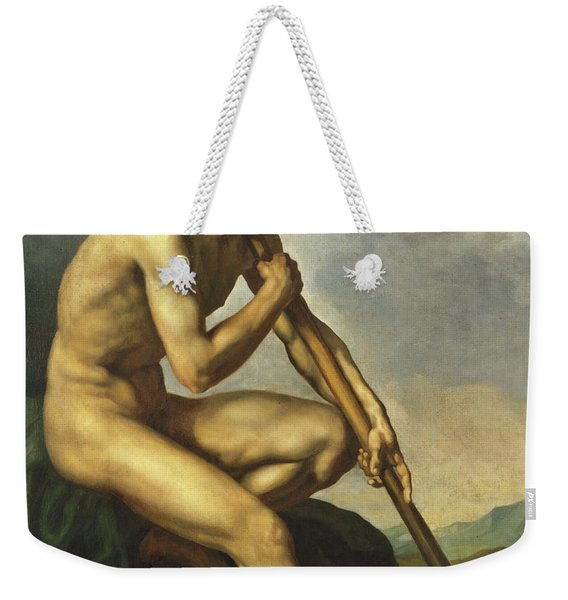 Nude Warrior With A Spear Weekender Tote Bag
