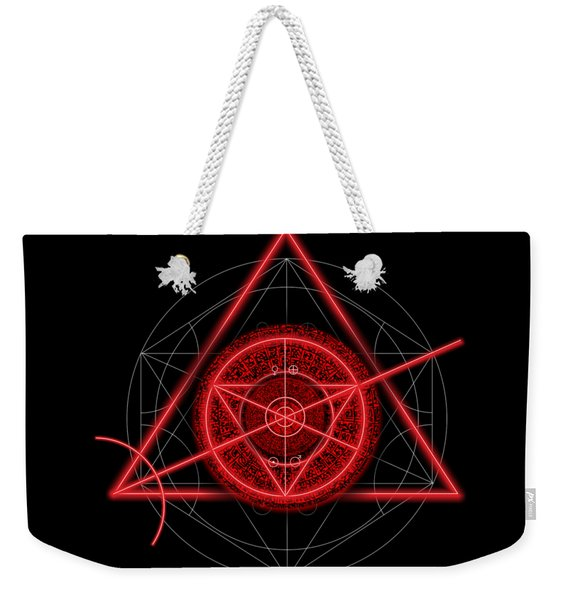 Occult Magick Symbol On Red By Pierre Blanchard Weekender Tote Bag