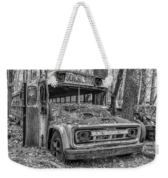 Old School Bus Weekender Tote Bag