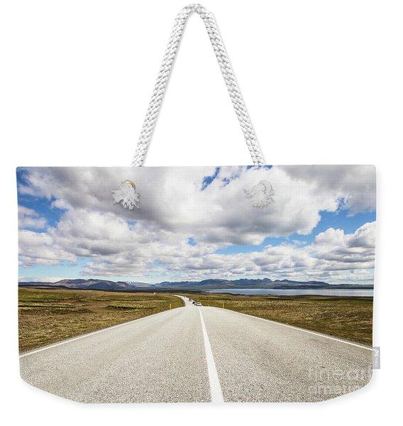 On The Road In Iceland Weekender Tote Bag