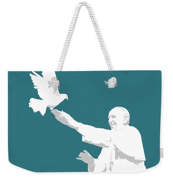 Pope Francis Weekender Tote Bag