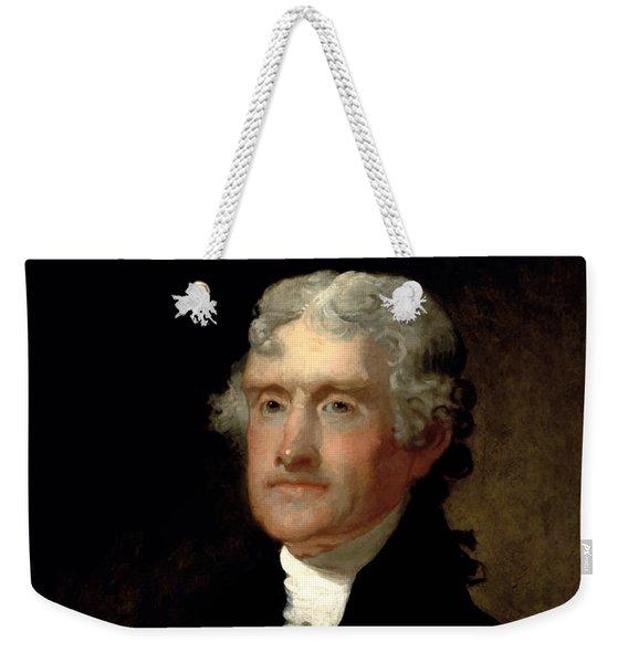 President Thomas Jefferson  Weekender Tote Bag