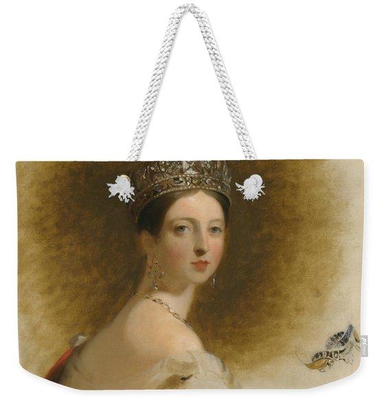 Queen Victoria Weekender Tote Bag