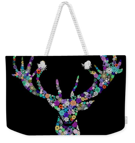 Reindeer Design By Snowflakes Weekender Tote Bag