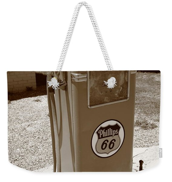 Route 66 Gas Pump Weekender Tote Bag