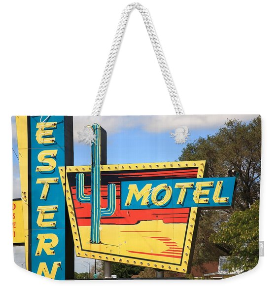 Route 66 - Western Motel Weekender Tote Bag