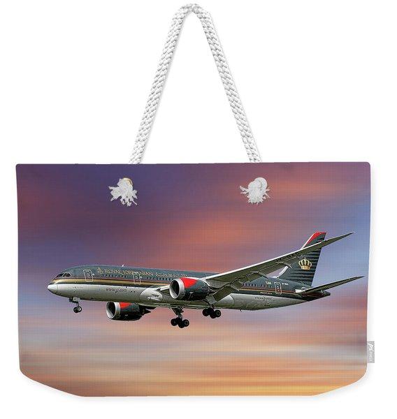 Royal Jordanian Boeing 787-8 Dreamliner Weekender Tote Bag