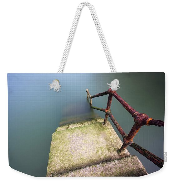 Rusty Handrail Going Down On Water Weekender Tote Bag