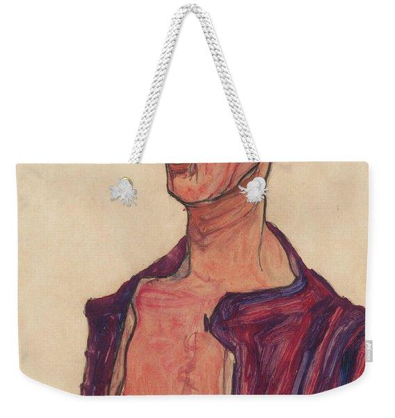 Self-portrait, Grimacing Weekender Tote Bag
