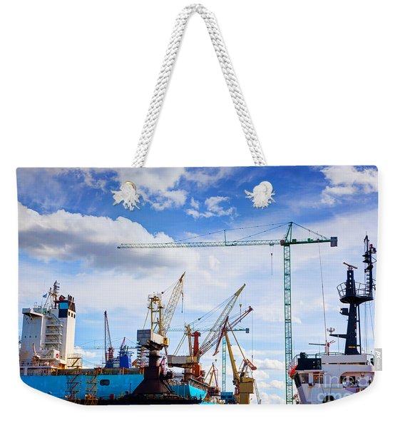 Ship Under Construction Weekender Tote Bag