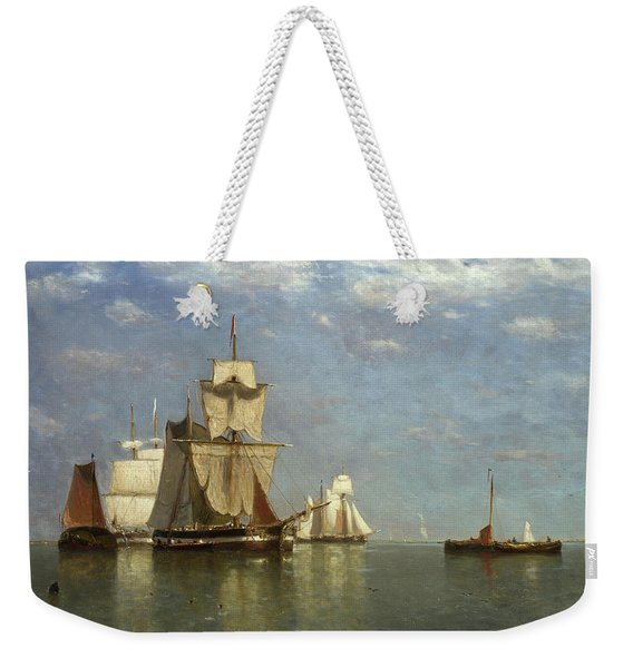 Ships Lying Off Flushing Weekender Tote Bag