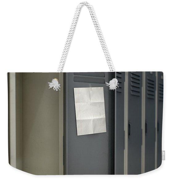 Shool Locker With Blank Note Weekender Tote Bag