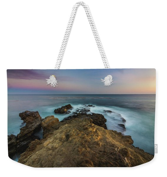 Weekender Tote Bag featuring the photograph Smooth Waves At Sequit Point by Andy Konieczny
