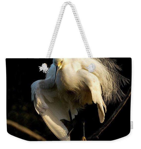 Snowy Beauty Weekender Tote Bag