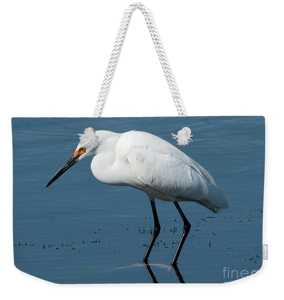 Snowy White Egret Weekender Tote Bag