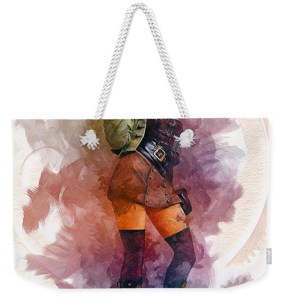 Steampunk Girl Weekender Tote Bag