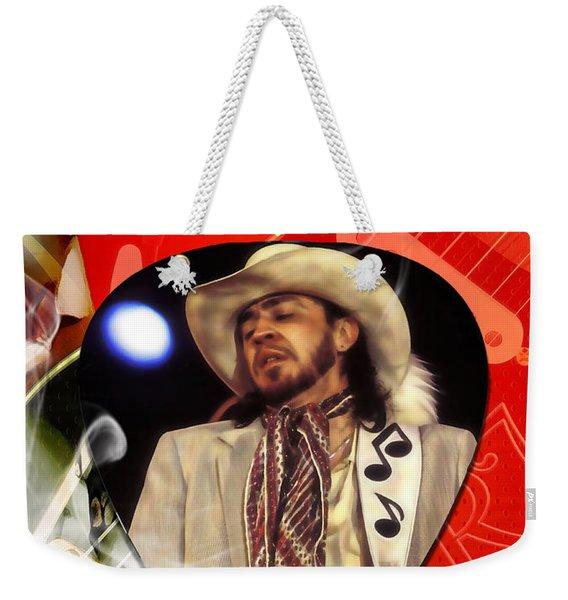 Stevie Ray Vaughan Art Weekender Tote Bag
